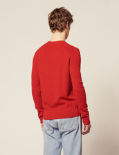 Fine Fancy Stitch Sweater : Sweaters & Cardigans color Red