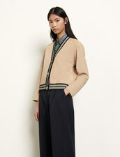 Cardigan-style jacket : Blazers & Jackets color Camel