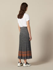 Lurex Knit Midi Skirt : Copy of VP-FR-FSelection-PAP&ACCESS color Silver