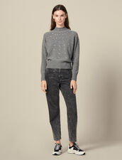 Knitted Sweater Trimmed With Studs : FBlackFriday-FR-FSelection-30 color Grey