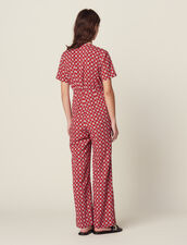 Printed Flowing Jumpsuit : All Selection color Red