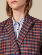 Checked Double-Breasted Blazer : Blazers & Jackets color Multi-Color