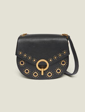 Pépita Bag, Medium Model With Studs : All Bags color Black
