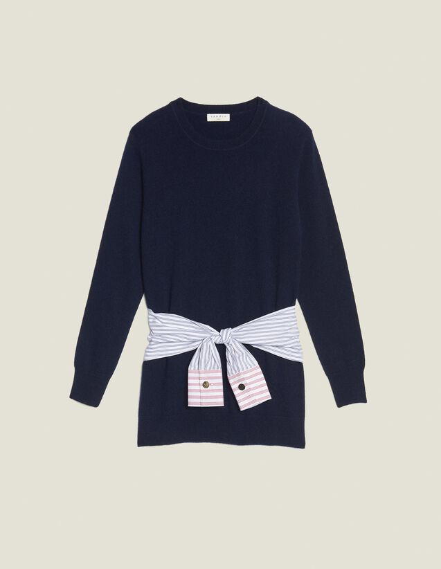 Wool And Cashmere Sweater : All Selection color Navy Blue