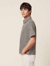 Chequerboard Shirt In Japanese Fabric : Sélection Last Chance color Black