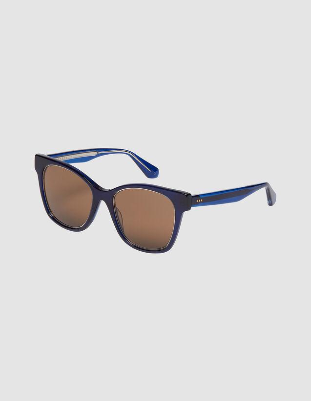 Oversized Sunglasses : Sunglasses color Tobacco Brown