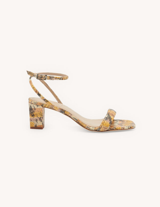 Embossed leather sandals : All Shoes color Gold/Blush