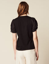 T-Shirt With Short Puff Sleeves : LastChance-FR-FSelection color Black
