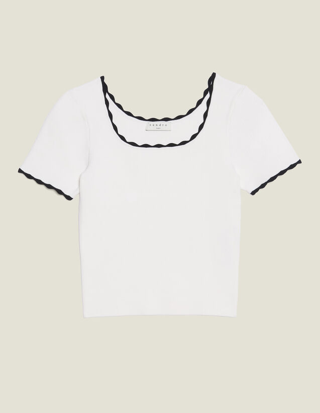 Matching Cropped Knit Top : null color white