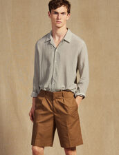 Bermuda Shorts With Pleats : All Selection color Taupe