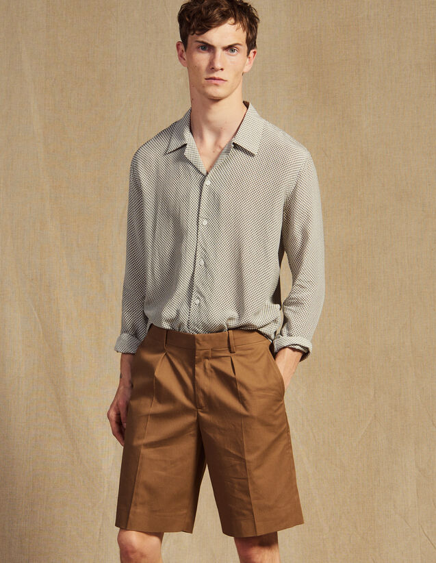 Bermuda Shorts With Pleats : Sélection Last Chance color Taupe