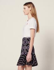 Short Guipure Skirt : Skirts & Shorts color Black