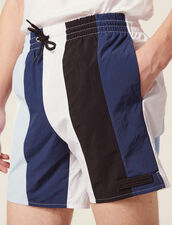 Multi-Coloured Striped Swim Shorts : Soak up the sun color Blue