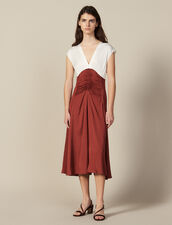 Midi Dress With Pleats : Dresses color Ecru