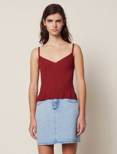 Knit Top With Narrow Straps : null color Terracotta