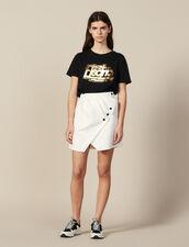 Short Wraparound Skirt : Skirts & Shorts color Ecru
