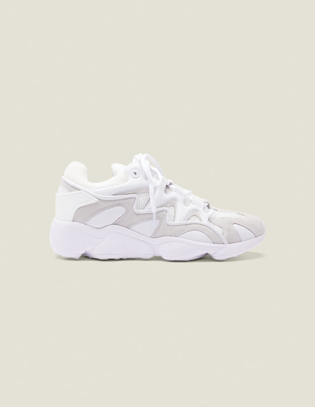 Material Mix Sneakers : Shoes color white