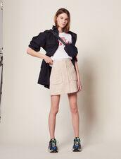 Short Tweed Skirt : Skirts & Shorts color Pink