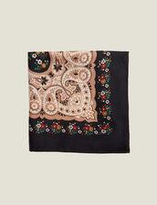 Black silk bandana scarf : All Winter collection color Black