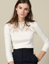Poplin T-Shirt With Insert : LastChance-ES-F40 color Ecru