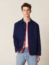 Faded Cotton Workwear Jacket : Blazers & Jackets color Blue