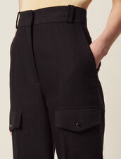 Cargo Trousers : All Selection color Black