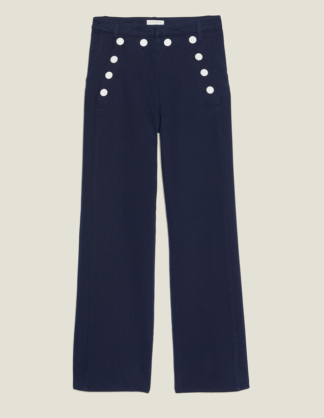 Sailor Trousers : null color Navy Blue