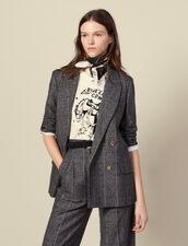 Checked tailored jacket : Blazers & Jackets color Grey
