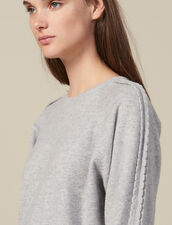 Sweater With Scalloped Trim : FBlackFriday-FR-FSelection-30 color Light Grey