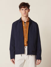Coach Jacket In Technical Fabric : Sélection Last Chance color Navy Blue