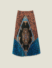 Long printed skirt with pleats : LastChance-ES-F50 color Multi-Color