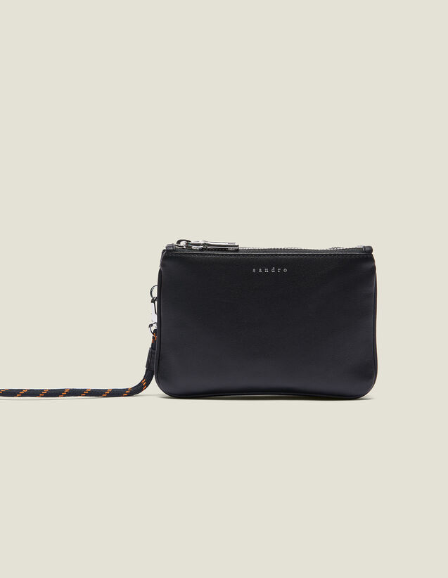 Mini Addict Pouch With Wrist Strap : Summer Collection color Black