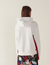 Sweatshirt With Embroidery And Flocking : null color white