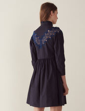 Short Dress With Lace Inset : All Selection color Navy Blue