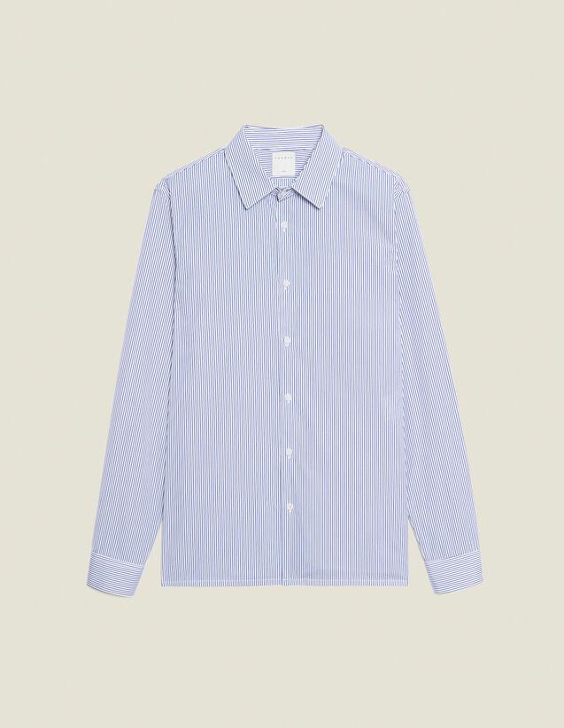 Formal cotton shirt : Shirts color White/Blue