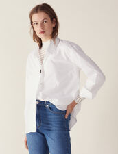 Shirt Embellished With A Jewelled Button : LastChance-FR-FSelection color white