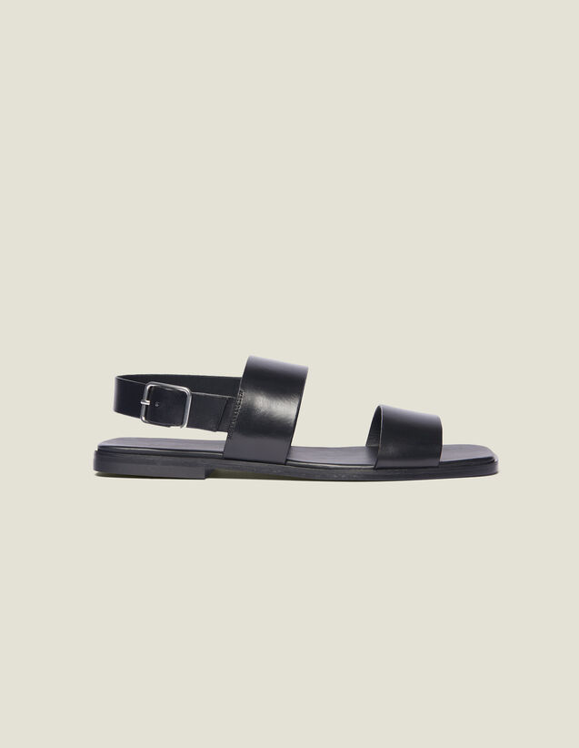 Leather Sandal : Sélection Last Chance color Black