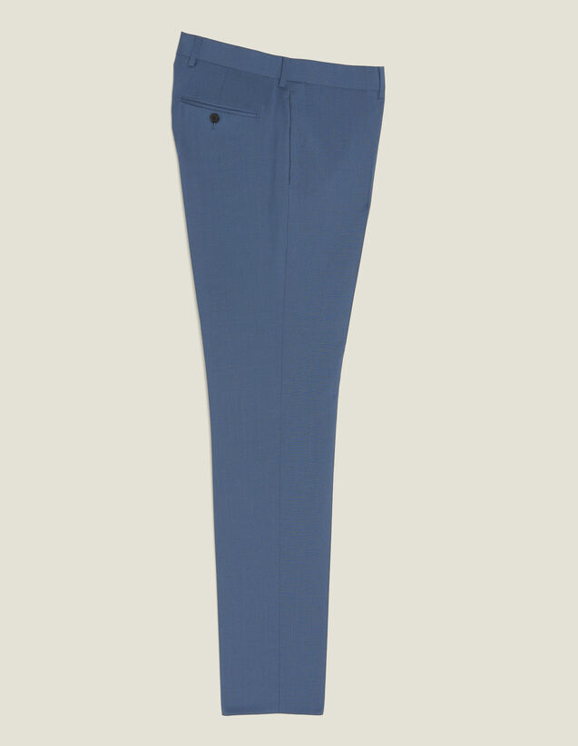 Wool Suit Trousers : Suits & Tuxedos color Bluish Grey
