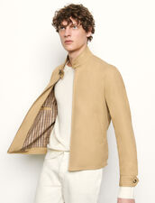 Cotton zipped jacket : Blazers & Jackets color Beige