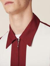 Flowing Zipped Jacket : Sélection Last Chance color Bordeaux