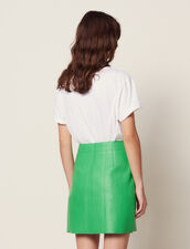 Neon Leather Skirt : Skirts & Shorts color Green