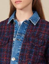 Tweed jacket : LastChance-ES-F50 color Bordeaux