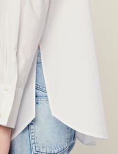 Poplin Shirt With High Cuffs : null color white