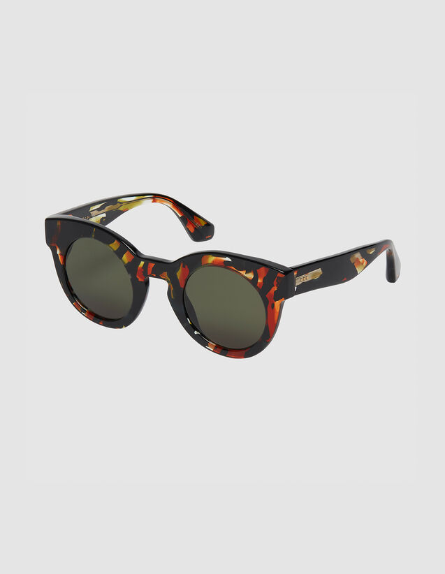 Oversized Round Sunglasses : Sunglasses color Red
