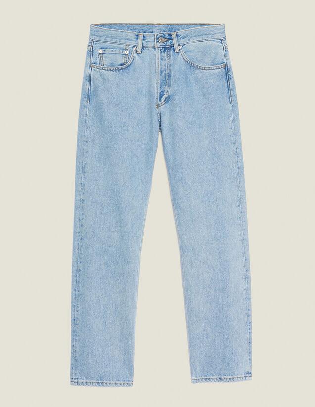 Straight-Cut Vintage Blue Jeans : Jeans color Blue Vintage - Denim