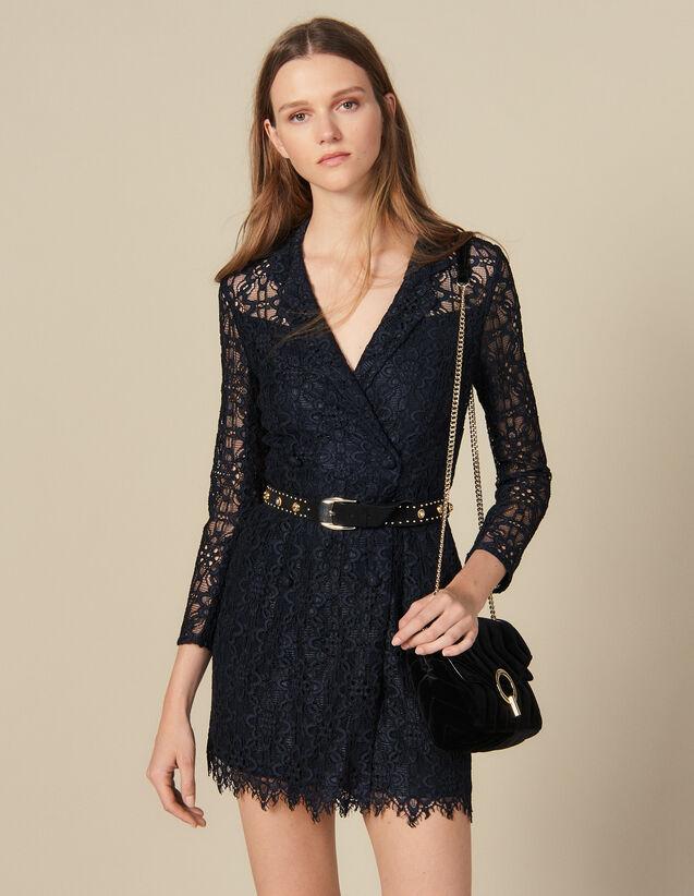 Lace Coat Dress : Dresses color Navy Blue