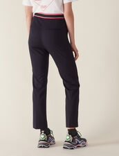 Straight-Cut Trousers : Pants color Navy Blue