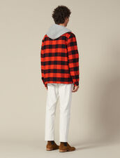 Check overshirt with hood : LastChance-IT-H40 color Orange