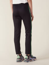 Jogging Bottom Style Trousers : null color Black