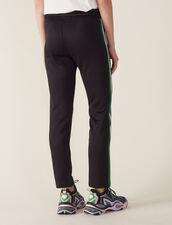 Jogging Bottom Style Trousers : Pants color Black